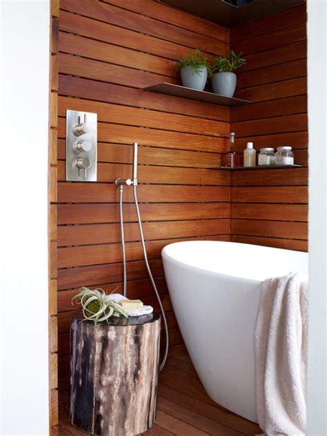 chic  elegant wooden bathroom interiors