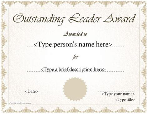 18390 how to write a resume exles special certificate outstanding leader award