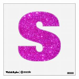 Pink glitter sparkle children letter alphabet abcs wall for Pink glitter letters