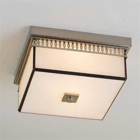 banded square modern flushmount ceiling light flush