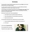FREE 5+ Screenplay Samples in PDF | MS Word