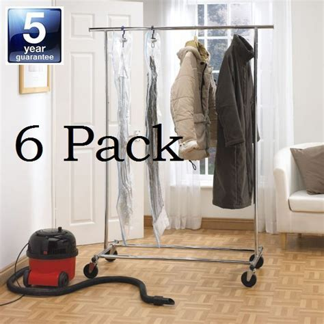 6 Long Hanging Vacuum Storage Bags   Extra Large Hang Up