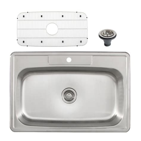 Overmount Kitchen Sink by Ticor S994 Overmount Stainless Steel Single Bowl Kitchen