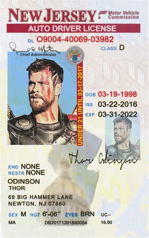 jersey  nj drivers license psd template  idviking  scannable fake ids