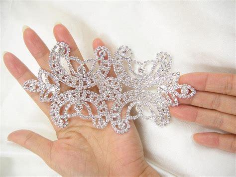 diamante applique diamante applique rhinestone applique bridal sash