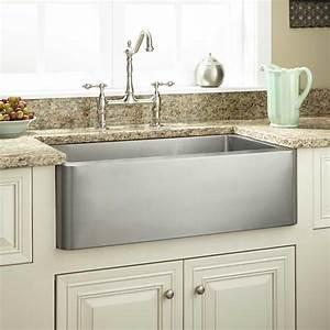Dark Grey Stainless Apron Front Kitchen Sink With White