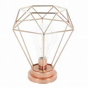 Lampe En Cuivre : lampe poser en m tal coloris cuivre dim h 22 x l 19 5 x p 19 5 cm achat vente lampe ~ Carolinahurricanesstore.com Idées de Décoration