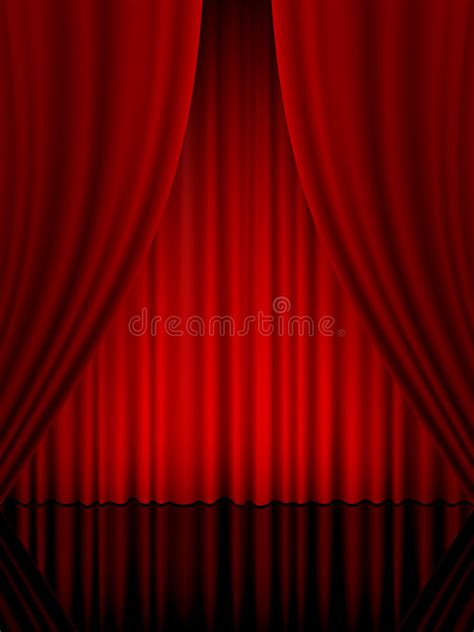 Theatre curtain vertical stock vector. Illustration of ...