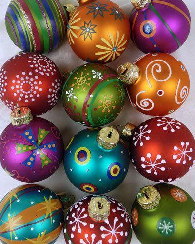 Weihnachtsdeko Noch Mehr Christbaumkugeln by Mille Fiori Design 12 Christbaumkugeln Aus Glas