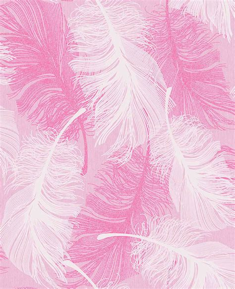 Pink Flower Desktop Wallpaper Coloroll Feather Powder Pink Wallpaper Inspired Wallpaper