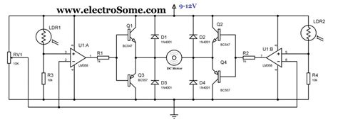 Simple Solar Tracker Circuit Using