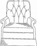 Armchair Furniture Coloring Pages Armchairs Chairs Templates Coloringbookfun Painting sketch template