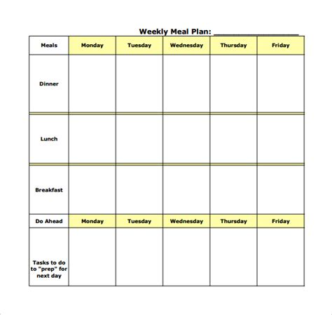 monthly meal planner template blank weekly planner template excel calendar template 2016