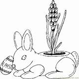 Planter Bunny Coloring Pages Coloringpages101 Holidays sketch template