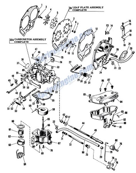20 Hp Johnson Outboard Diagram by Johnson Carburetor Parts For 1959 10hp Qd 20