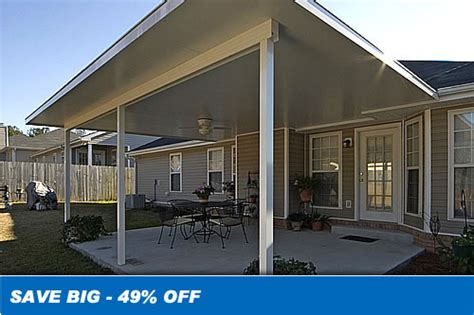 insulated aluminum patio covers sale save 20 12 ft