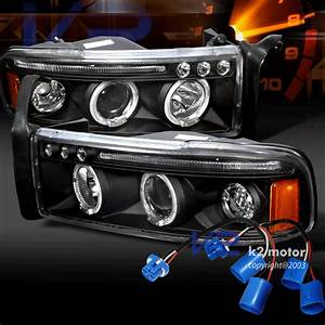 94-01 Dodge Ram Dual Halo Led Projector Headlights
