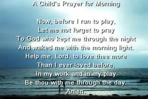 Good Morning Prayer for Children