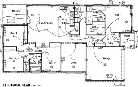 ranch floor plans with basement electrical plan house plans 42863