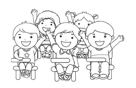 gambar mewarnai anak anak sekolah minggu belajarmewarnai