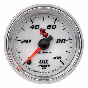 Auto Meter C2 Series Oil Pressure Gauge 7153