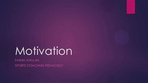 sports coaching pedagogy motivation