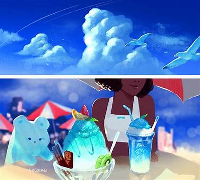 Doodles Nkim Bear Sky Illustrates Nk Cloud