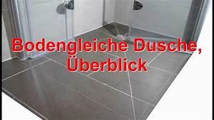 Dusche Ebenerdig Bauen : bodengleiche ebenerdige dusche youtube ~ Markanthonyermac.com Haus und Dekorationen