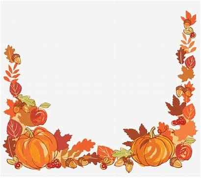Harvest Border Clipart Clip Thanksgiving Autumn Leaf