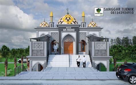 gambar desain masjid musholla modern  lantai sanggar