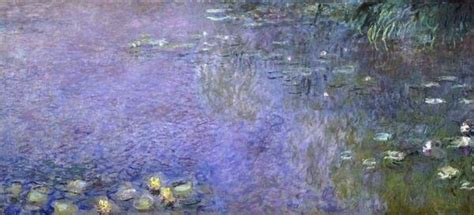 claude monet water lilies morning    center