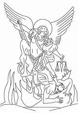 Michael Archangel Angel Tattoo St Saint Devil Coloring Drawing Clipart Statue Pages John Baptist San Miguel Outline Drawings Outlines Tattoos sketch template