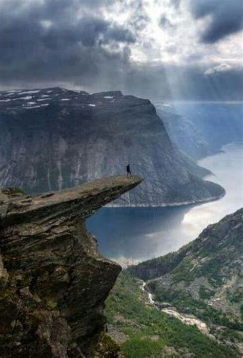 Trolltunga Cliff In Norway In 2019 Norway Beautiful