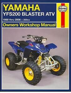 Yamaha Blaster Yfs200 Atv Repair Manual 1988-2006