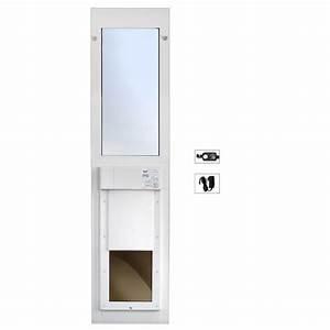 High tech pet 12 in x 16 in electronic pet patio door for Automatic dog door for sliding door