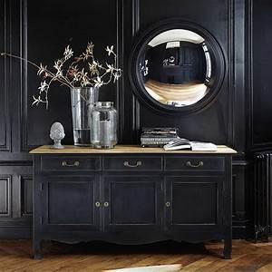 Buffet Bois Noir : miroir convexe en bois noir d 90 cm vendome maisons du monde salle manger pinterest ~ Teatrodelosmanantiales.com Idées de Décoration