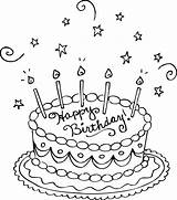Coloring Birthday Cake Pages Printable sketch template