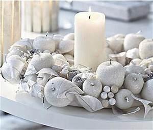 Deco Noel Blanc : no l 2013 la d coration de table s 39 habille en blanc floriane lemari ~ Teatrodelosmanantiales.com Idées de Décoration