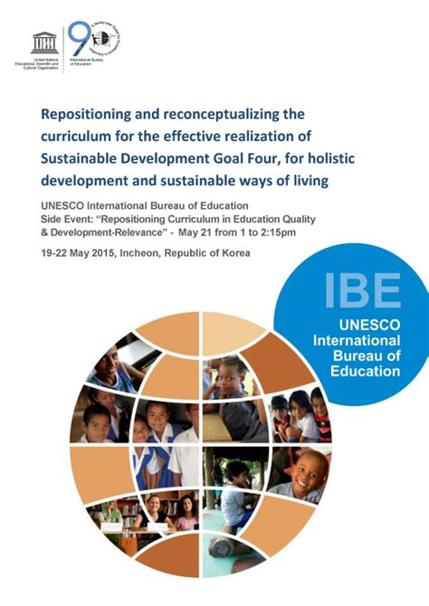 unesco international bureau of education ibe discussion paper repositioning and reconceptualizing