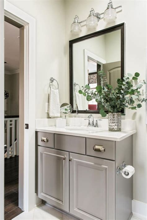 grey bathroom vanity ideas  pinterest double