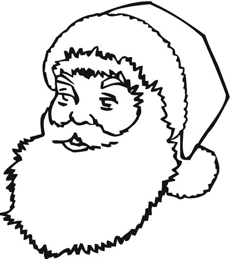 santa face coloring pages getcoloringpagescom