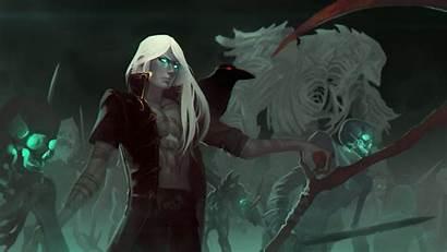 Sorcerer Necromancer Fantasy Skeleton Undead Pantalla Fondo