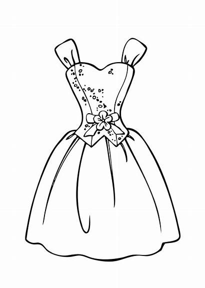 Coloring Pages Dresses Barbie Prom Getcoloringpages