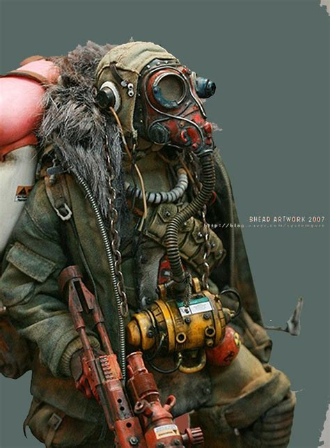 post apocalyptic soldier  scale model figures