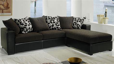 canapé d angle tissu marron canapé d 39 angle tissu marron et noir pas cher canapé tissu