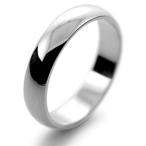 platinum wedding ring weight platinum wedding rings d shape heavy weight 4mm phd4