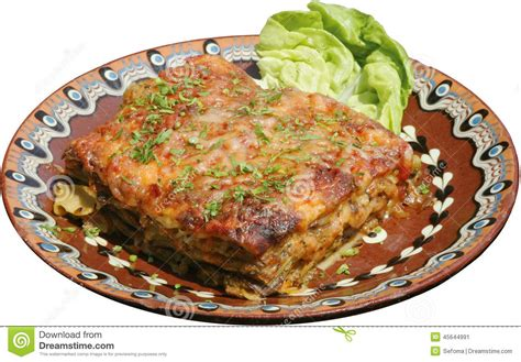 lasagne italien d un plat traditionnel photo stock image
