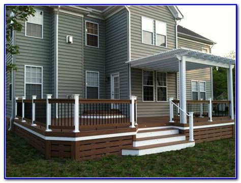 Deck Skirting Ideas by Horizontal Deck Skirting Ideas Decks Home Decorating