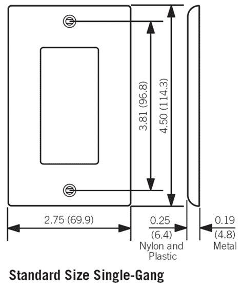 Leviton Decora Nylon Wallplates Plus Screwless Snap