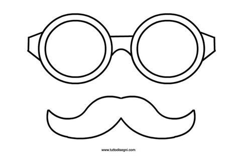 carnevale occhiali  baffi da ritagliare   bambini